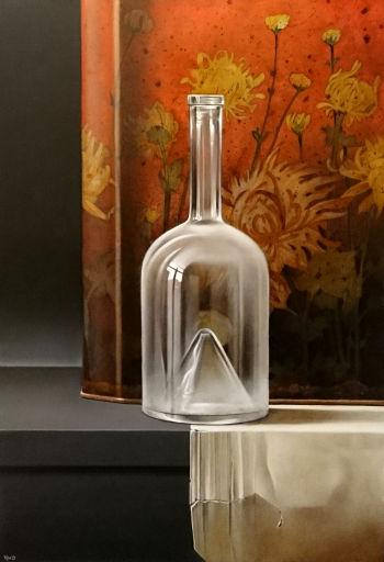 Het licht van de stilte - olieverf op paneel - 40 x 27,5 cm